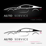 Auto services logo. Automotive logotype. Vector template Stock Photos