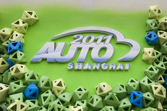 Auto Shanghai 2011 Exhibition entry marks Royalty Free Stock Photography
