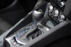 Auto shift car gear lever. Stock Photo