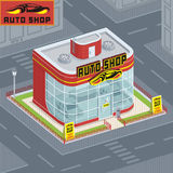 Auto shop. Vector illustration Motor Show. buying auto Royalty Free Stock Image