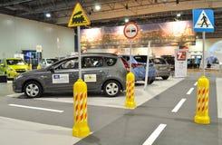 Auto Show. Interior design of cars exhibition at the Auto Show Poland Stock Photography