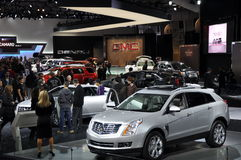 Auto Show. NEW YORK - APRIL 11: Exhibit at the 2012 New York International Auto Show running from April 6-15, 2012 in New York, NY Royalty Free Stock Photo