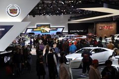 Auto Show. NEW YORK - APRIL 11: Auto Show Exhibit at the 2012 New York International Auto Show running from April 6-15, 2012 in New York, NY Royalty Free Stock Image