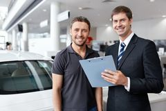 At the auto show Royalty Free Stock Photography