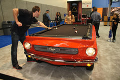 Auto Show Ford Mustang Pool Table Stock Image