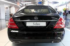 Auto show. Mercedes-Benz S-class (S 500) Royalty Free Stock Image