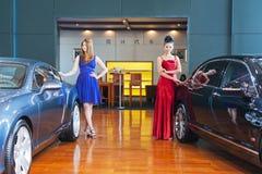 Auto show--models Stock Image