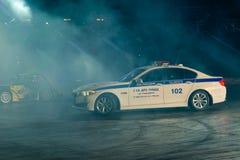 Auto show Moscow police Royalty Free Stock Photos