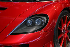 Red Sports Car Close Up stock photography