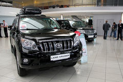 Auto show. Toyota Land Cruiser Royalty Free Stock Image