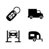 Auto. Simple Related Vector Icons Stock Photos