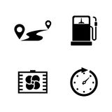 Auto. Simple Related Vector Icons royalty free illustration