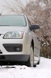 Auto in sneeuw Royalty-vrije Stock Foto