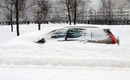 auto snow under Fotografering för Bildbyråer