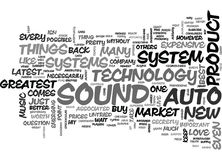 With Auto Sound Systems Newest Technology Isn Word Cloud Royalty Free Stock Photography