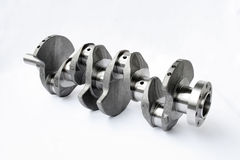 Auto spare parts. Automobile crankshaft isolated on a white background Royalty Free Stock Photos