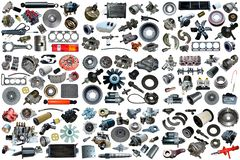 Free Auto Spare Parts Car On The White Background. Stock Photography - 166776282