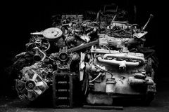 Auto spare parts engine Royalty Free Stock Photo