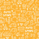 Auto spare parts pattern Stock Images