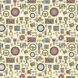 Auto spare parts seamless pattern Stock Image