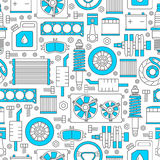 Auto spare parts seamless pattern Royalty Free Stock Images