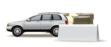 Auto spatie Royalty-vrije Stock Afbeeldingen