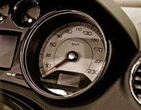 Auto speed control dashboard Stock Photo