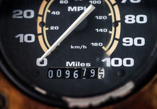 Auto speed control dashboard Royalty Free Stock Photo