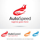 Auto Speed Logo Template Design Vector. This design suitable for logo or icon. Color and text can be changed easily Stock Images