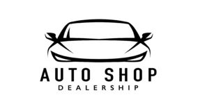 Free Auto Sports Car Dealership Logo With Silhouette Icon Shape Of A Motor Vehicle Royalty Free Stock Image - 138820566