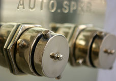 Auto sprinkler. Fire protection system steel plugs Stock Photography
