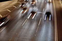 Auto-Spuren Stockfoto