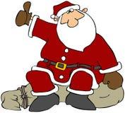 Auto-stop della Santa illustrazione di stock