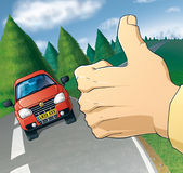 Auto-stoppeur Image stock