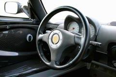 auto stort hjul för black s Arkivbild