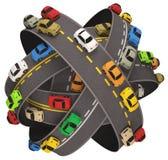 Auto-Straßen-Verkehr Lizenzfreie Stockfotos