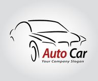 Auto style car logo design with concept sports vehicle icon silh Stock Image