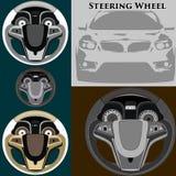 Auto styrninghjul Fotografering för Bildbyråer