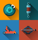 Auto suspension flat design Stock Photo