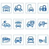 auto symbolssymboler utför service rengöringsduk Royaltyfri Foto