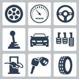 Auto symbolsuppsättning för vektor Arkivfoton