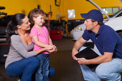 Auto technician customer Stock Photo