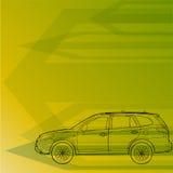 Auto teckning för begrepp Royaltyfri Bild