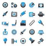 Auto-Teil- und Service-Ikonen stock abbildung