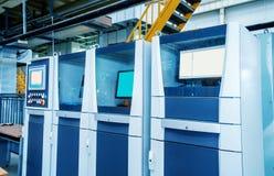 Auto tela do controle do robô da produção Fotos de Stock