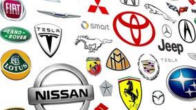 Auto tipo Logo Loop ilustração stock