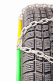 Auto tire and chains Stock Photography