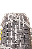 Auto tire and chains Stock Image