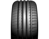 Auto tire. Vector illustration of a new auto tire on white Stock Photography