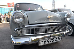 Auto toont retro van Dniepr Stock Foto